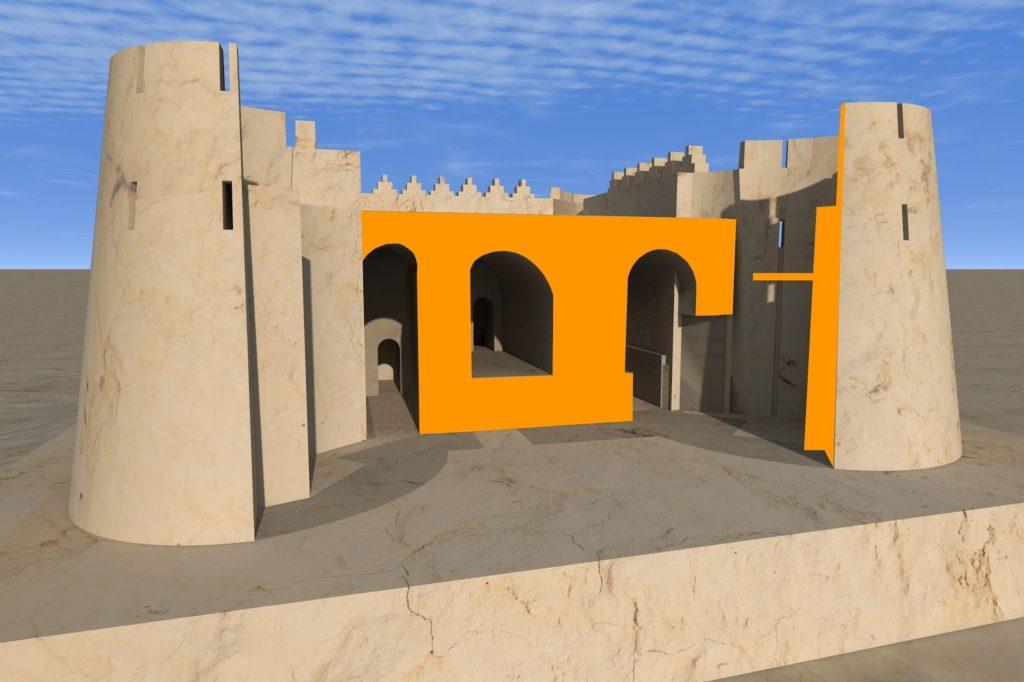 Актепа Чиланзар I-II периода. 3D разрез (рек. авт.)