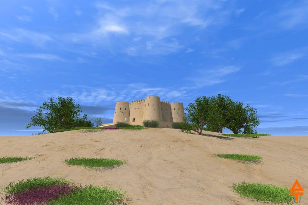 Актепа Чиланзар I-II периода. Западная сторона (рек. авт.)