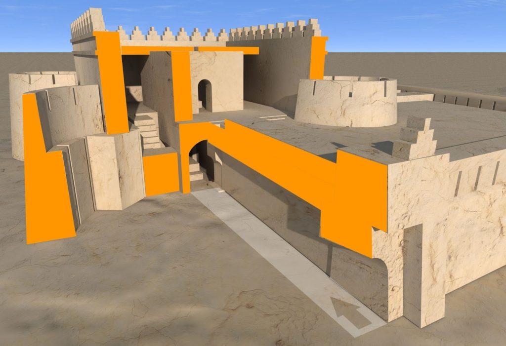 Актепа Чиланзар III периода. 3D разрез (рек. авт.)