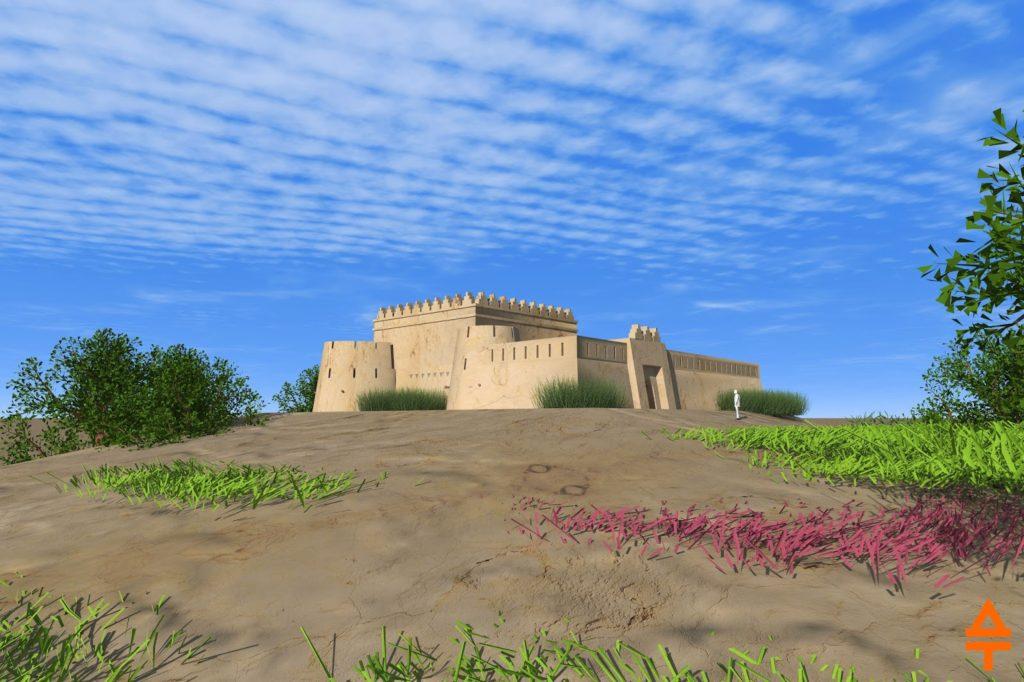 Актепа Чиланзар III периода. Восточная сторона (рек. авт.)