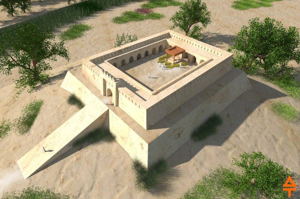 Актепа Чиланзар VI периода. Западная сторона (рек. авт.)