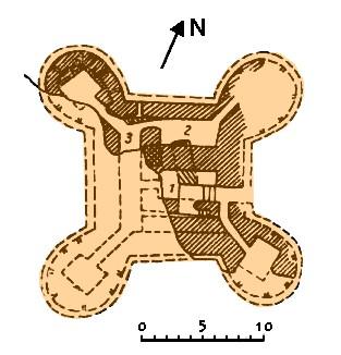 План Актепа Чиланзар I-II периода [1]
