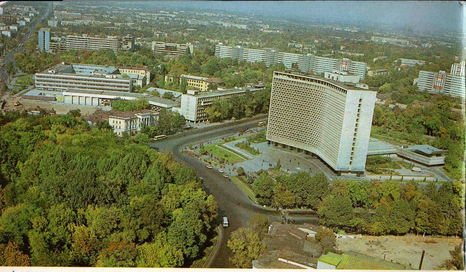 Сквер, Ташкент, 1980 г.