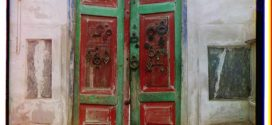 Entrance gates into tsar's tomb. Bogoeddin. Bukhara
